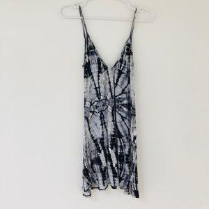 B Jewel Dresses - Scoop neck summer cover up tie-dye dress